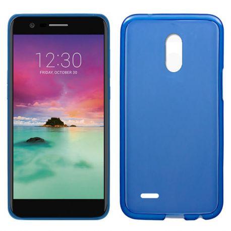 Funda de TPU Mate Lisa para LG K10 2017 Silicona Flexible Azul