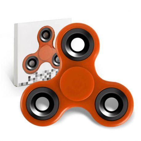 Fidget Spinner, Peonza dedo de tres puntas Antiestrés Naranja