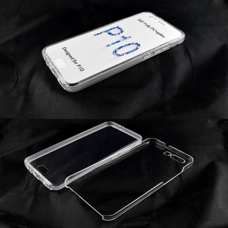 Funda TPU Doble 360 Frontal Trasera Sin Puntos para Huawei P10