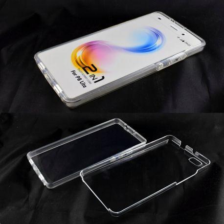 Funda TPU Doble 360 Frontal Trasera Sin Puntos para Huawei P8 Lite