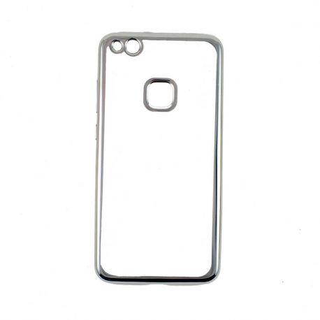 Funda TPU Transparente Huawei P10 Lite con Borde Cromado Metalizado