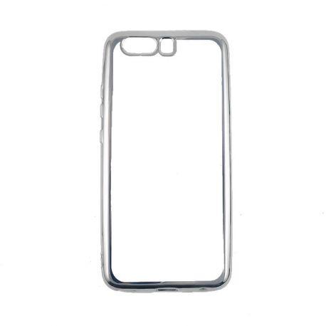 Funda TPU Transparente Huawei P10 con Borde Cromado Metalizado