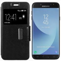 Funda libro Flip Cover con Tapa y Ventana Samsung Galaxy J7 2017 Negro