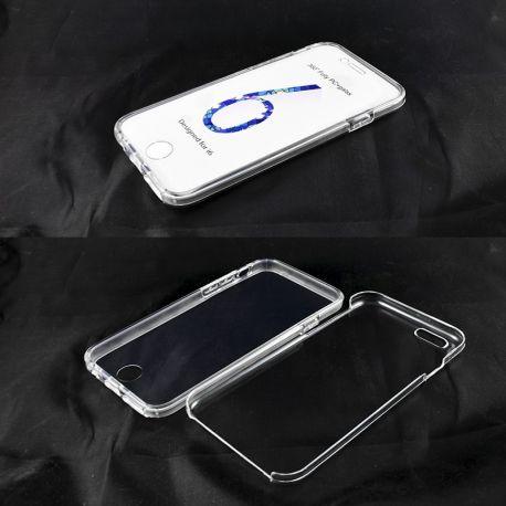 Funda de TPU Doble 360 Delantera Trasera Sin Puntos para iPhone 6 y 6S