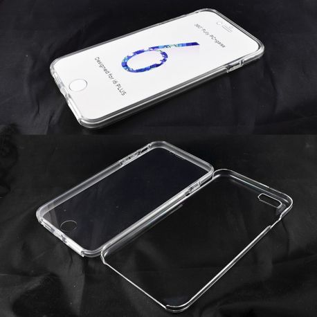 Funda TPU Doble Delantera Trasera Sin Puntos iPhone 6 Plus y 6S Plus