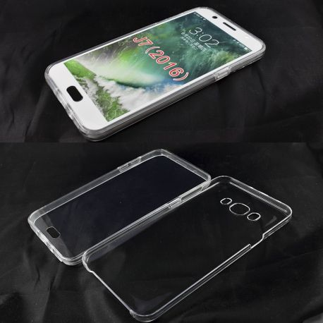 Funda TPU Doble 360 Frontal Trasera Sin Puntos Samsung Galaxy J7 2016