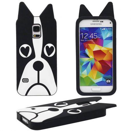 Funda 3D de Silicona Perro con Ojos de Corazon para Samsung Galaxy S5