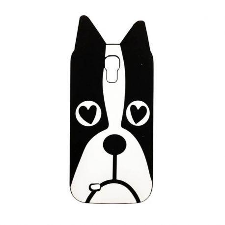 Funda 3D de Silicona Perro con Ojos de Corazon para Samsung Galaxy S4