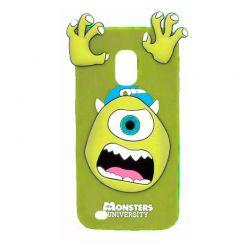 Funda 3D de Silicona Mike Monstruos Verde para Samsung Galaxy S4