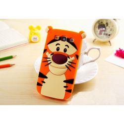 Funda 3D de Silicona Tiger Naranja para Samsung Galaxy S3