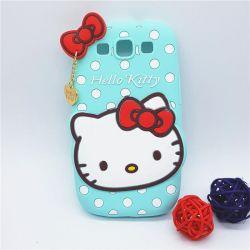 Funda de Silicona Hello Kitty verde lunares para Samsung Galaxy S3