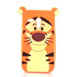 Funda 3D de Silicona Tiger Naranja para Motorola Moto G