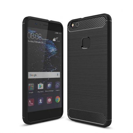 Funda TPU Forcell Carbon con diseño fibra de carbono - Huawei P10 Lite
