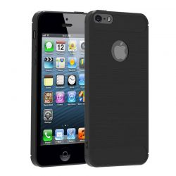 Funda TPU Forcell Carbon con diseño fibra carbono - iPhone 5 / 5S / SE