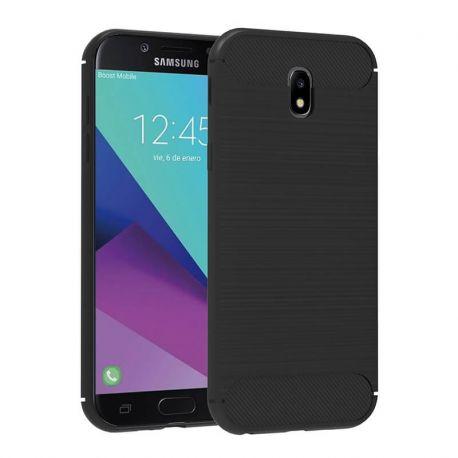 Funda TPU Forcell Carbon tipo fibra de carbono Samsung Galaxy J3 2017