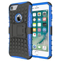 Funda Forcell Panzer híbrida Azul con soporte - iPhone 7