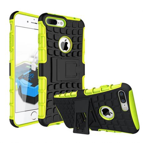 Funda Forcell Panzer híbrida Verde con soporte - iPhone 7 Plus