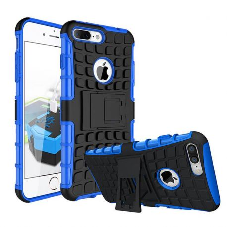 Funda Forcell Panzer híbrida Azul con soporte - iPhone 7 Plus