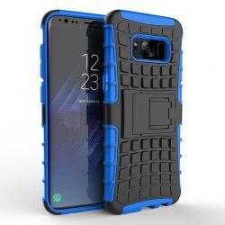 Funda Forcell Panzer híbrida Azul con soporte - Samsung Galaxy S8
