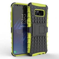 Funda Forcell Panzer híbrida Verde con soporte Samsung Galaxy S8 Plus