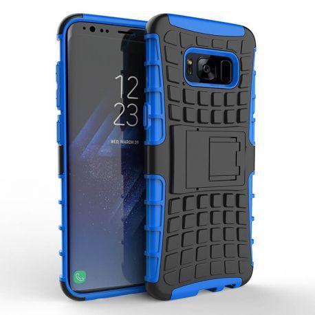 Funda Forcell Panzer híbrida Azul con soporte Samsung Galaxy S8 Plus