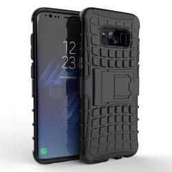 Funda Forcell Panzer híbrida Negro con soporte Samsung Galaxy S8 Plus
