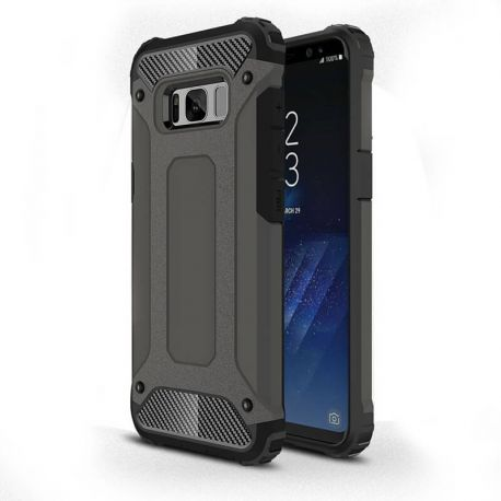 Funda Forcell Armor Tech híbrida para Samsung Galaxy S8 Plus Gris
