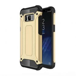 Funda Forcell Armor Tech híbrida para Samsung Galaxy S8 Plus Dorado