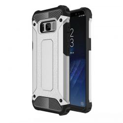 Funda Forcell Armor Tech híbrida para Samsung Galaxy S8 Plus Plata