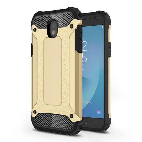 Funda Forcell Armor Tech híbrida para Samsung Galaxy J7 2017 Dorado