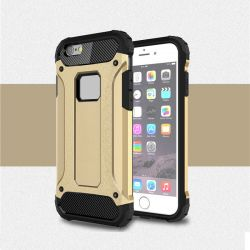 Funda Forcell Armor Tech híbrida para iPhone 6 y 6S Dorado