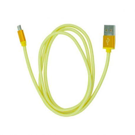 Cable Micro Usb Metal de Carga y Datos para Móvil y Tablet - Dorado