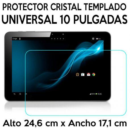 Protector Cristal Templado Universal Tablets 10 Pulgadas 24,6 x 17,1cm