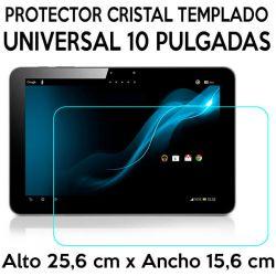 Protector Cristal Templado Universal Tablets 10 Pulgadas 25,6 x 15,6cm