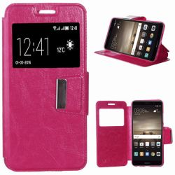 Funda libro Flip Cover Tapa, Ventana y Soporte Huawei Mate 9 Rosa