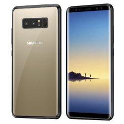 Funda TPU Transparente Borde Negro Metalizado - Samsung Galaxy Note 8