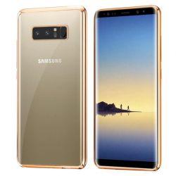 Funda TPU Transparente Borde Dorado Metalizado - Samsung Galaxy Note 8