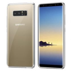 Funda TPU Transparente Borde Plata Metalizado - Samsung Galaxy Note 8