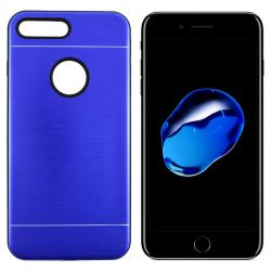 Funda trasera Metal, Aluminio y TPU para iPhone 7 Plus / 8 Plus Azul