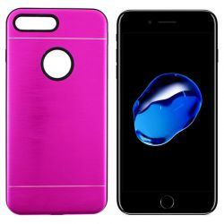 Funda trasera Metal, Aluminio y TPU para iPhone 7 Plus / 8 Plus Rosa