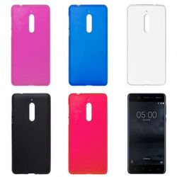 Funda Trasera de TPU Mate para Nokia 5 Silicona Flexible