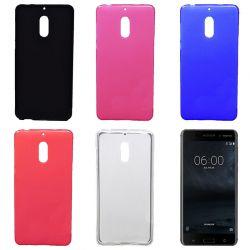Funda Trasera de TPU Mate para Nokia 6 Silicona Flexible