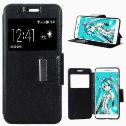 Funda libro Flip Cover con Tapa y Ventana Xiaomi Redmi Note 4X Negro