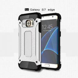 Funda tipo Tough Armor Tech para Samsung Galaxy S7 Edge Plata