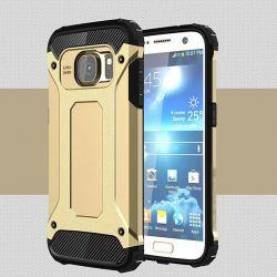 Funda tipo Tough Armor Tech para Samsung Galaxy S7 Edge Dorado