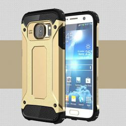 Funda tipo Tough Armor Tech para Samsung Galaxy S7 Edge Dorado