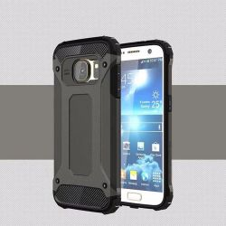 Funda tipo Tough Armor Tech para Samsung Galaxy S7 Gris Oscuro