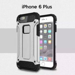 Funda tipo Tough Armor Tech todo terreno para iPhone 6 Plus Plata
