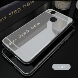 Funda Mirror Gel TPU efecto Espejo para Xiaomi Redmi 4X Plata