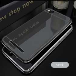 Funda Mirror Gel TPU efecto Espejo para Xiaomi Redmi 4A Gris